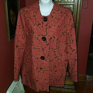 Talbots A-line trench coat EUC large